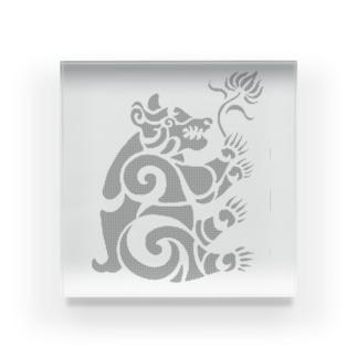 中南米風のクマ Acrylic Block