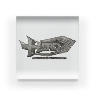 HEROバリアフリープロレスのHERO立体ロゴ Acrylic Block