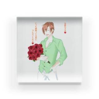 言の葉 薔薇 Acrylic Block