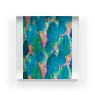 ひとすじの_pattern_ver. Acrylic Block