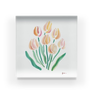 tulip Acrylic Block