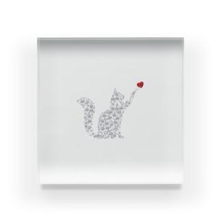 Crystal CAT Acrylic Block
