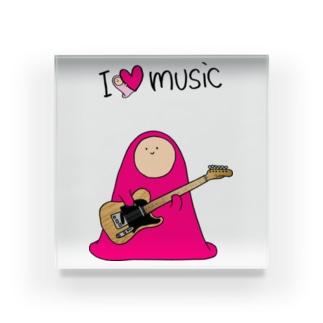 I LOVE MUSIC - アイラヴミュージック エレクトリックギターVer. Acrylic Block