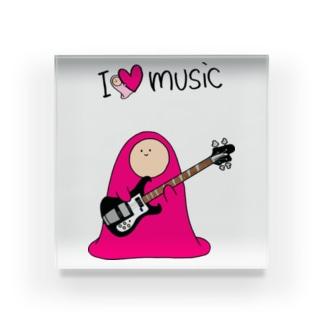 I LOVE MUSIC - アイラヴミュージック エレクトリックベースVer.  Acrylic Block