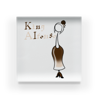 ウサネコのカクテル キングアルフォンソ Acrylic Block