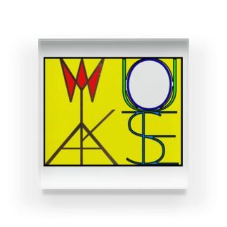 松明と鏡 色付きver Acrylic Block