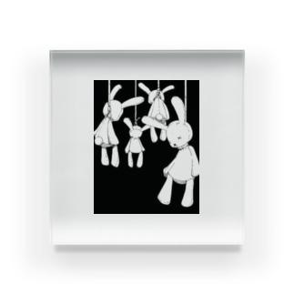 首吊りうさちゃん Acrylic Block