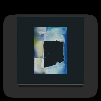 クボタノブエの青い壁面 Acrylic Block