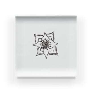 Flower Acrylic Block