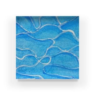 波 Acrylic Block