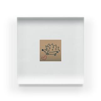 幸せハリネズミ Acrylic Block