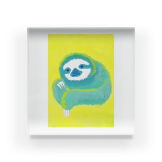 ナマケモノ3(アクリル画) Acrylic Block