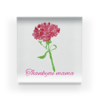 Thank you mama Acrylic Block