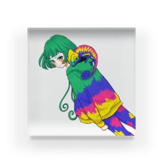 カメレオン・ガール Acrylic Block