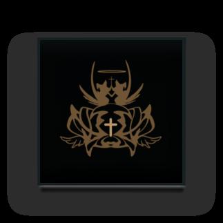 Myalmoの黒と王冠 Acrylic Block
