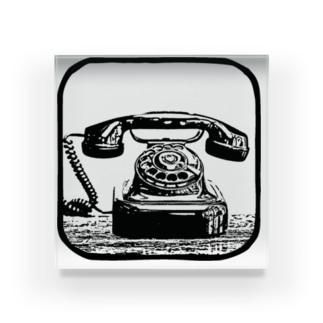 黒電話 Acrylic Block