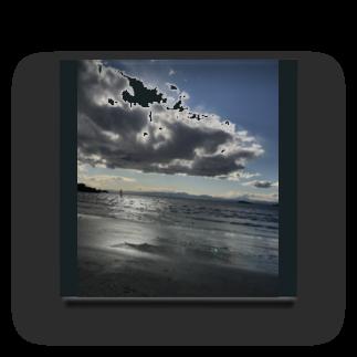 Pakiraの海岸沿い(曇り) Acrylic Block