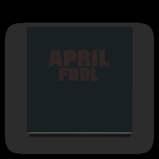 グラフィンの4月1日エイプリルフール用デザイン April fool Acrylic Block