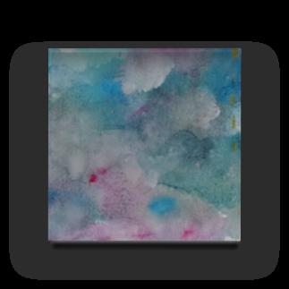 michiのcloudy Acrylic Block