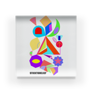 STICKTOBELIEFの自己主張🌈 Acrylic Block