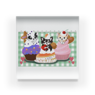 3shimai-mamaの3姉妹グッズ Acrylic Block