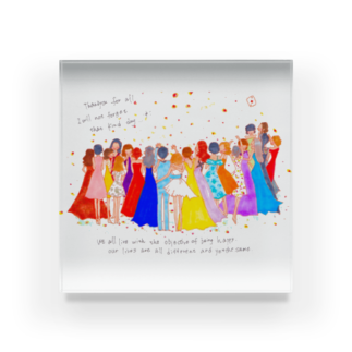 くらたまみの感謝のダンス Acrylic Block