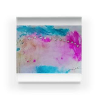 pinky Acrylic Block