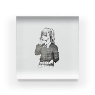可愛いペン画イラスト Acrylic Block
