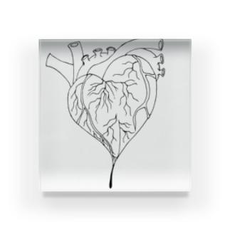 心臓 Acrylic Block