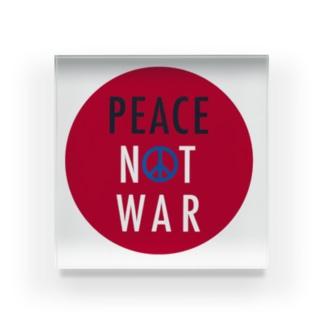 PEACE NOT WAR Acrylic Block