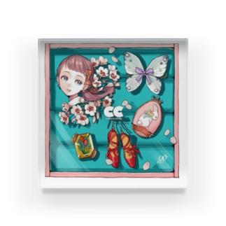 桜とダイヤの宝石箱 Acrylic Block