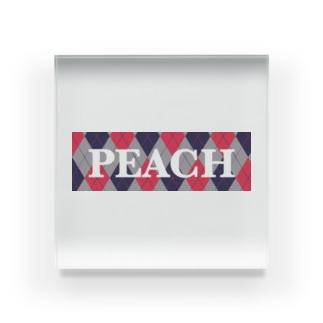 PEACH Acrylic Block