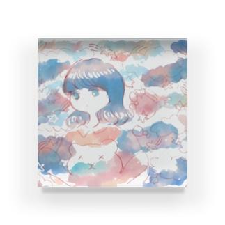 ふわふわのゆめ Acrylic Block