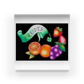 オレンジ・ぶどう・いちご Acrylic Block
