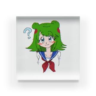 カエルの女の子 Acrylic Block