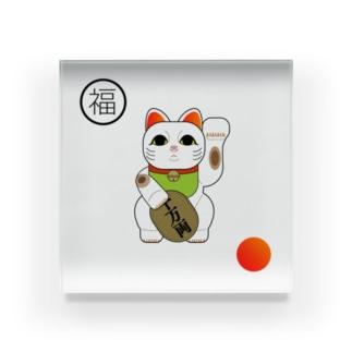招き猫 / japan Acrylic Block