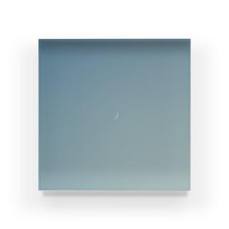 月と歩く Acrylic Block
