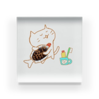 お魚スキスキ Acrylic Block