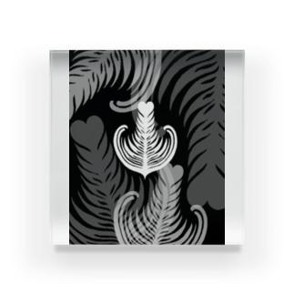【ラテアート】ブラックリーフ Acrylic Block