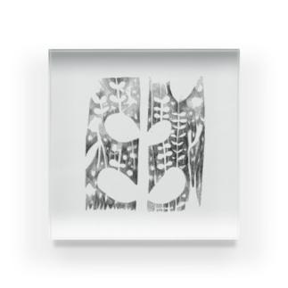 のびのび葉っぱ Acrylic Block