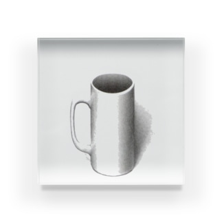 マグカップついてるよ Acrylic Block