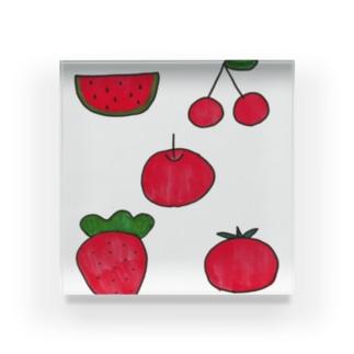 まっかな果物 Acrylic Block