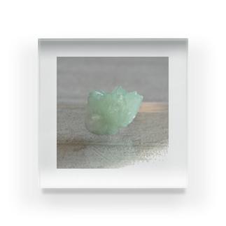 鉱物/グリーンアポフィライト Acrylic Block