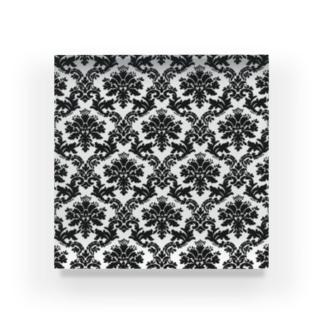 ダマスク柄ホワイト Acrylic Block