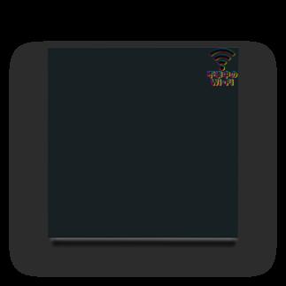 グラフィンの不幸中の幸い?不幸中のWi-Fi CMY 胸ワンポイントロゴ Acrylic Block