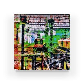 色めくトレイン Acrylic Block