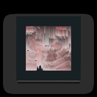 SZUKIの猫クラッシュグリッチ Acrylic Block