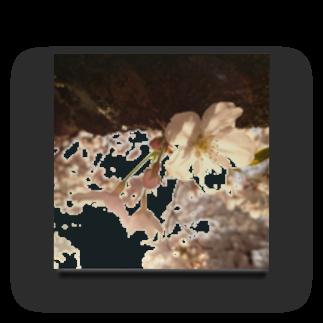 mana_naの桜と夕日 Acrylic Block