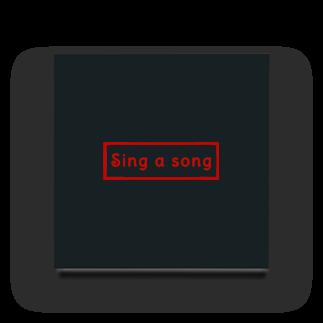 Sorapolice_pinopoliceのsing a song シンプル Acrylic Block