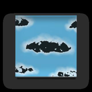 Atomatomの晴れた空と雲 Acrylic Block